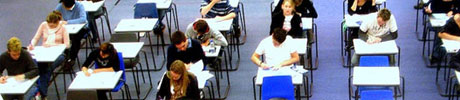 An image of a group of students in an Examination Hall